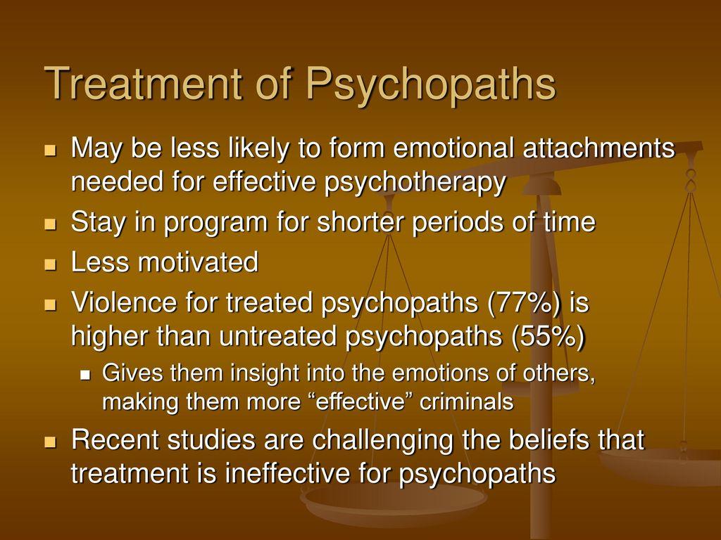 emotional psychopath treatment