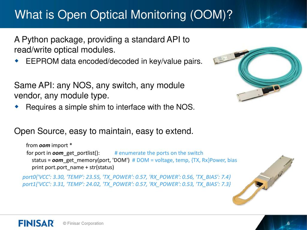 Simple Optical Switch Open Monitoring Ppt Download What Is Oom