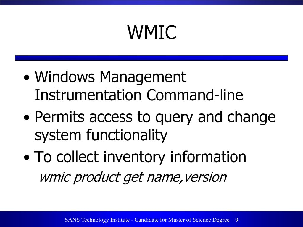 How to inventory Windows installed software - ppt download