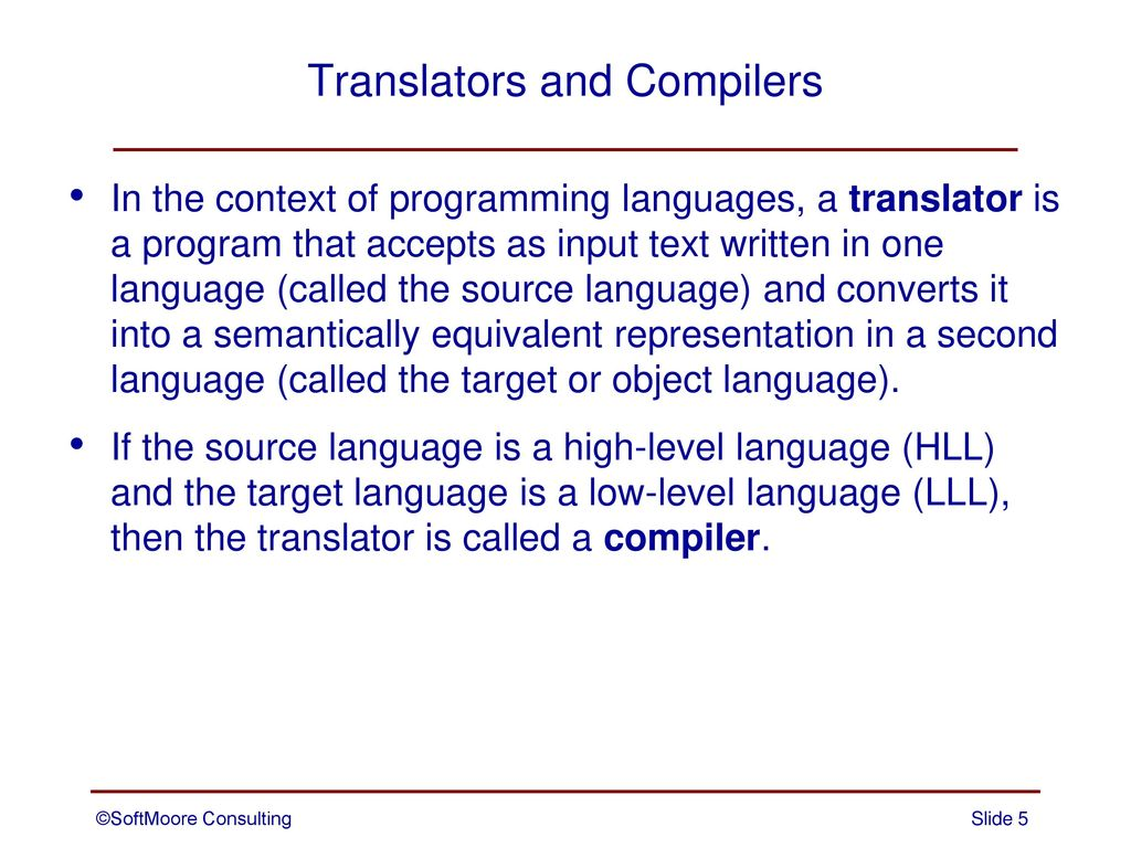 Overview of Compilers and Language Translation - ppt download