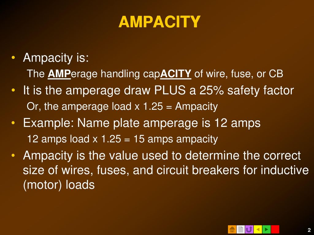 How to size electrical circuits ppt download acity ampacity amp ampacity is greentooth