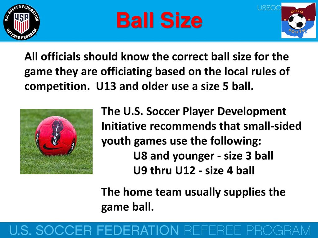 Law 2 The Ball U S Soccer Federation Referee Program Ppt Download