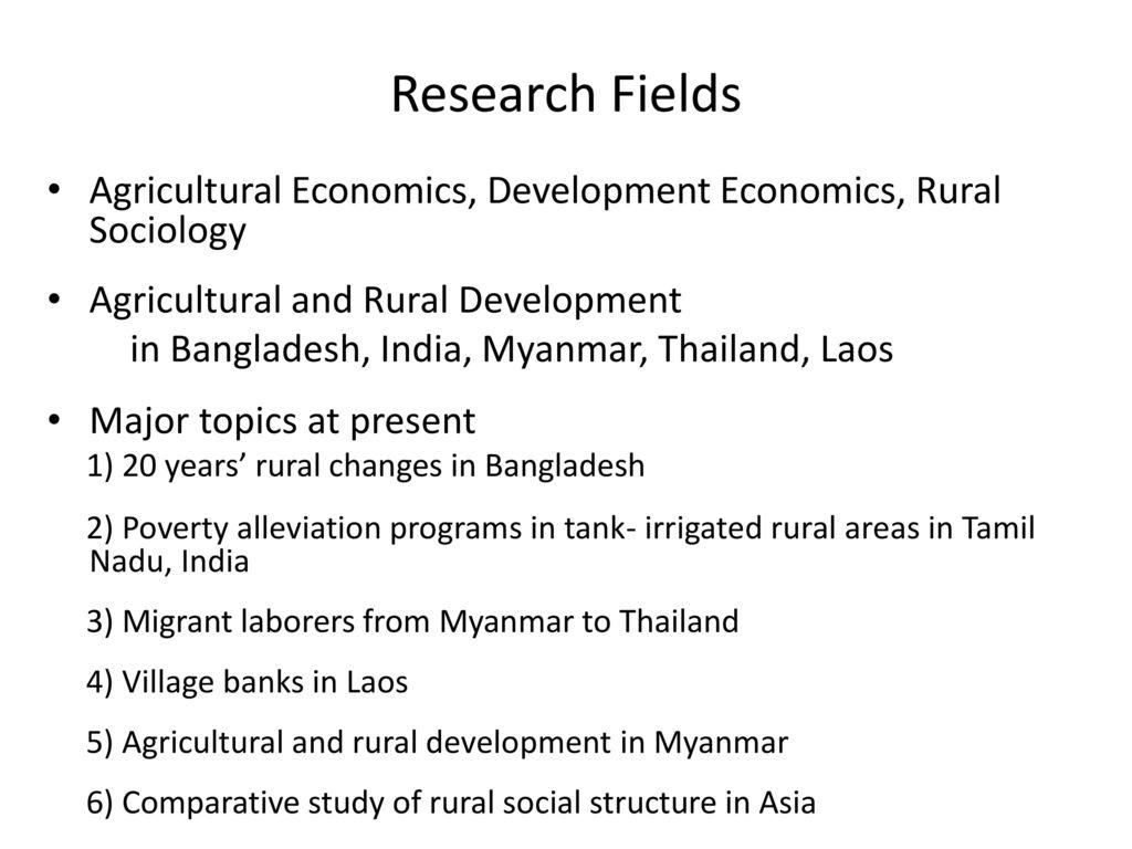 Development Economics - ppt download
