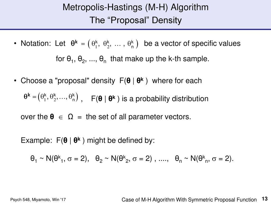 MCMC Output & Metropolis-Hastings Algorithm Part I - ppt