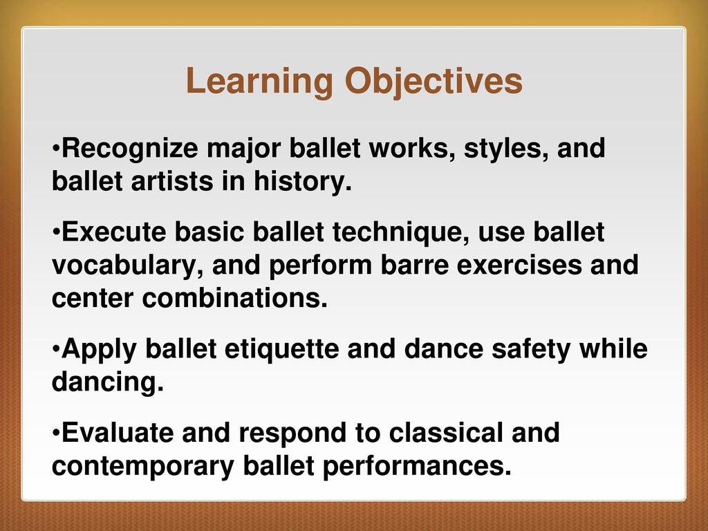 C H A P T E R 9 Ballet Chapter Ppt Download