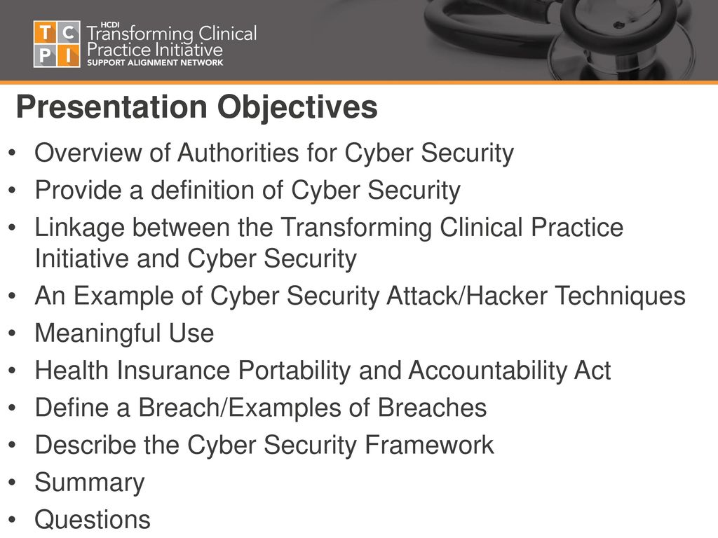 """cyber security: """"implications in clinical settings"""" august 31, ppt"""