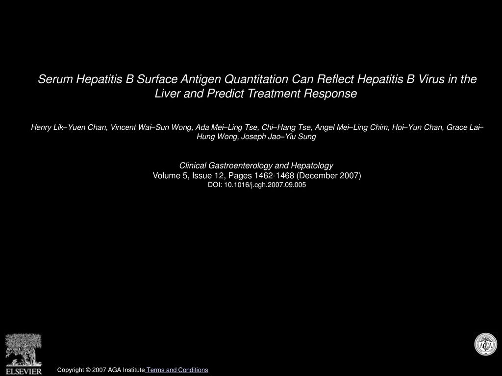Serum Hepatitis B Surface Antigen Quantitation Can Reflect