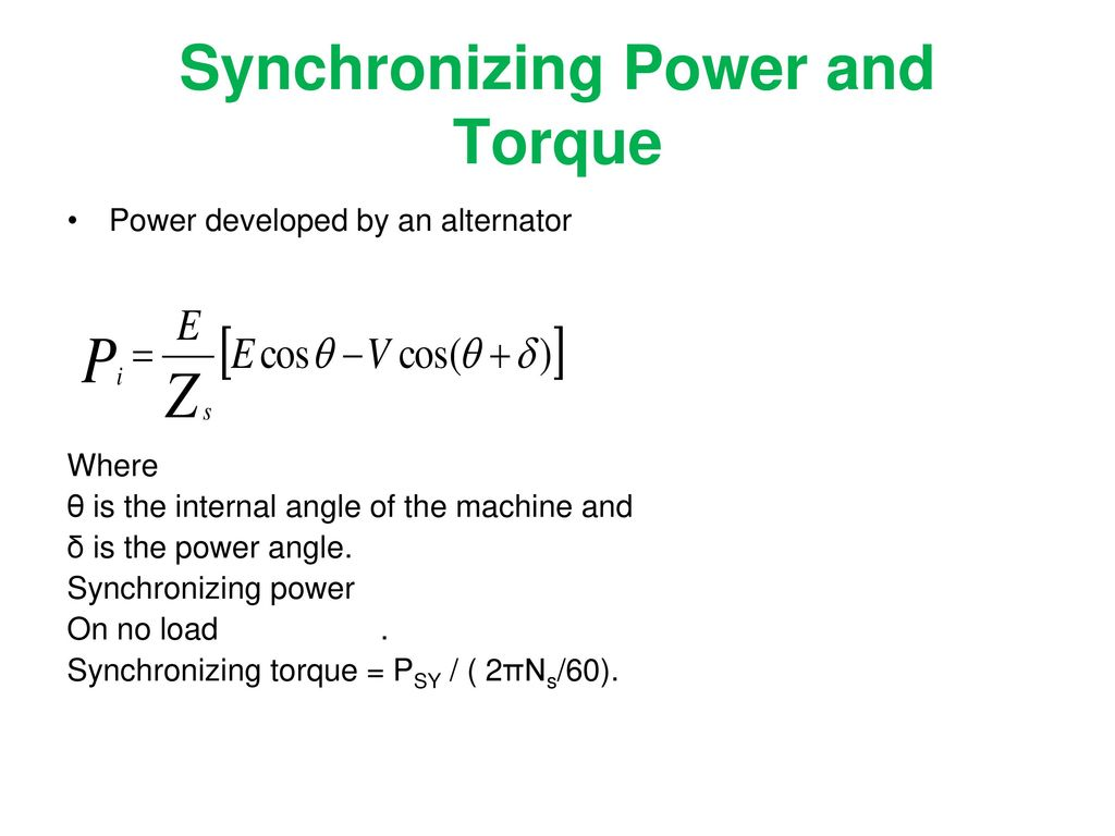 Synchronization (Parallel Operation) - ppt download