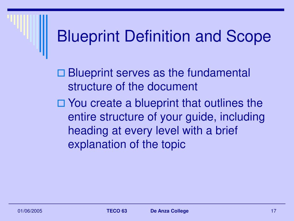 Document development cycle ppt download blueprint definition and scope malvernweather Images