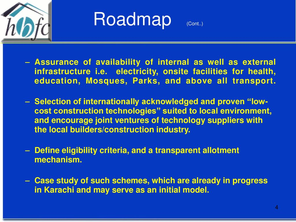 Roadmap for construction of 250,000 Low Cost Houses - ppt download