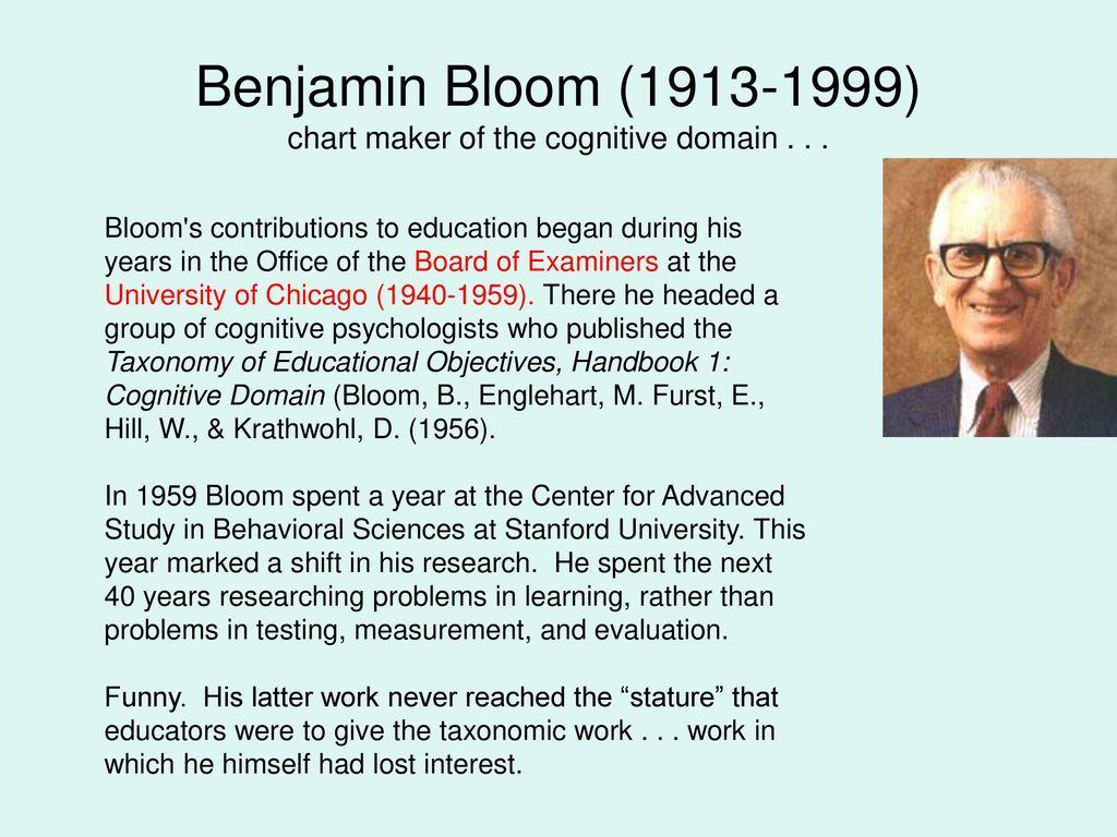 benjamin bloom contribution to education