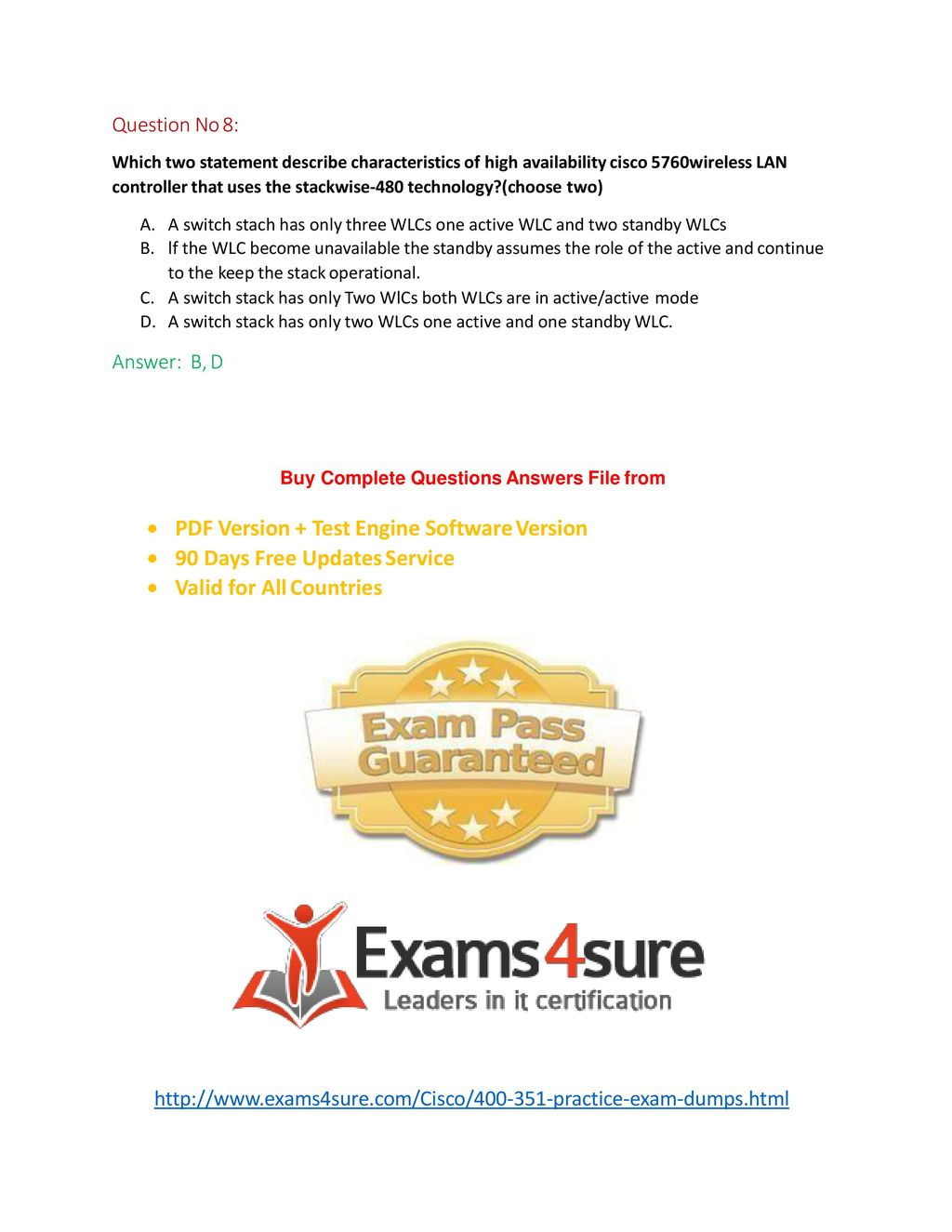100% Exam Passing Guarantee & Money Back Assurance - ppt download