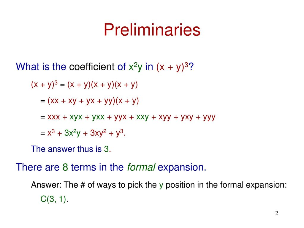 What is the coefficient