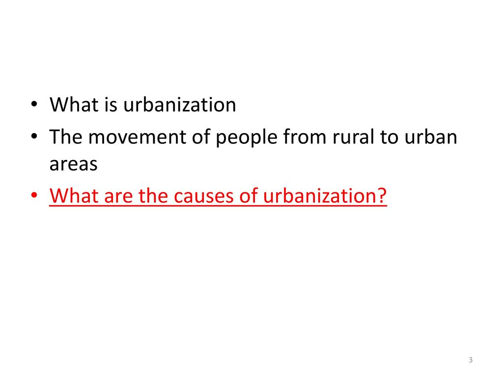 movement of people from rural to urban areas
