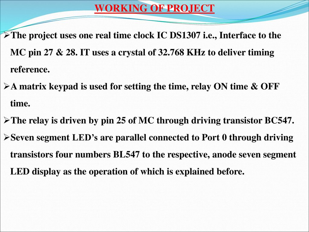 MULTIPLE ON AND OFF TIME PROGRAMMED INDUSTRIAL LOAD - ppt