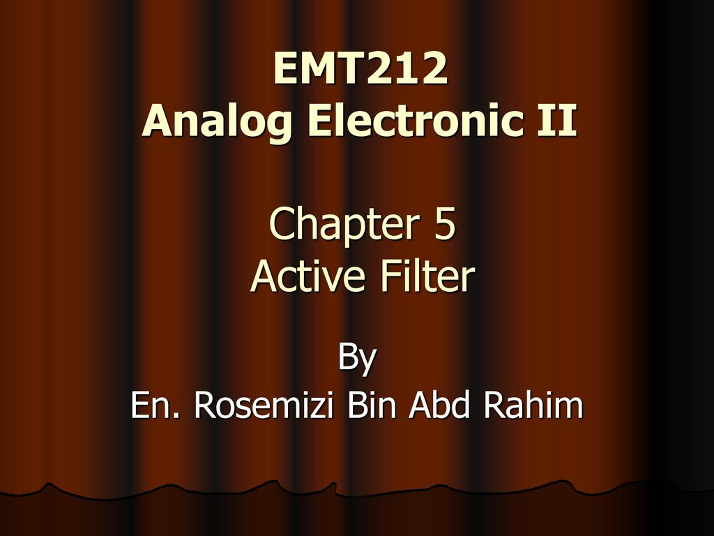 Emt212 Analog Electronic Ii Ppt Download Electronics I Laboratory Simple Lc Circuits And Ac Analysis