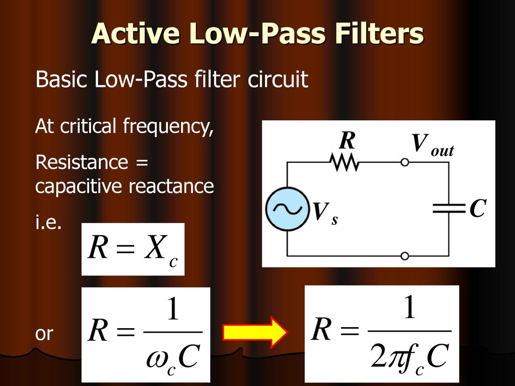 Emt212 Analog Electronic Ii Ppt Download Order Low Pass Filter Circuit Is Shown In The Figure This Active Filters