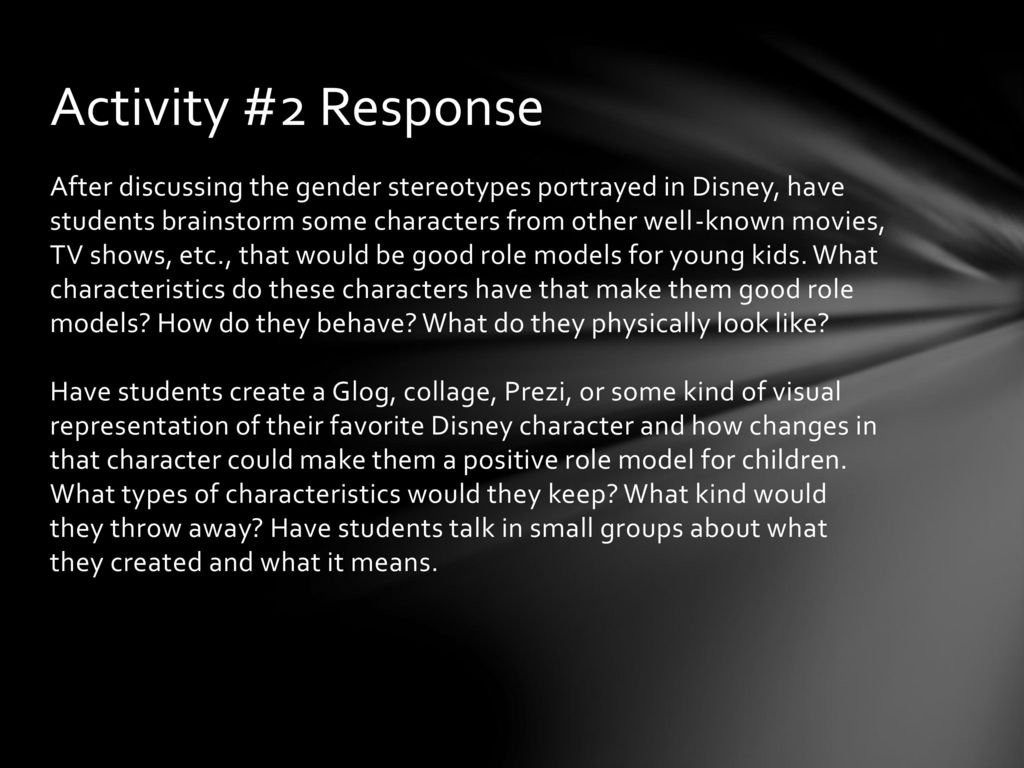 Inspire and Sensitize: Gender Stereotyping in Disney Films