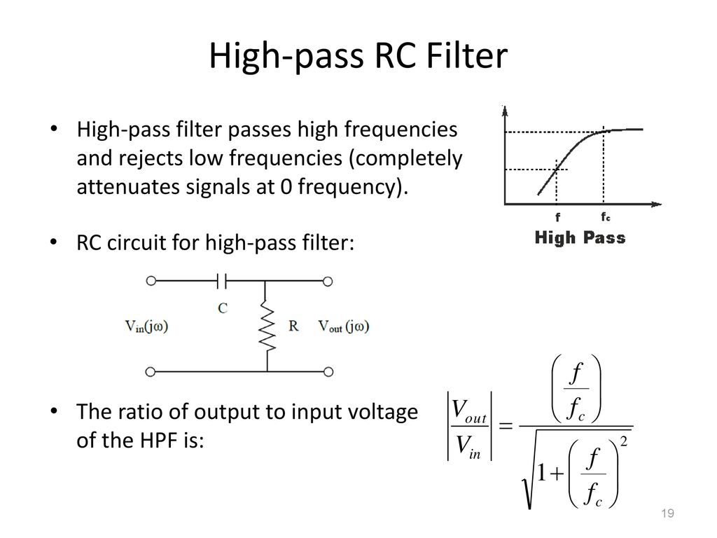4 Filters Ppt Download Pass Filter Circuit Diagram For High 19