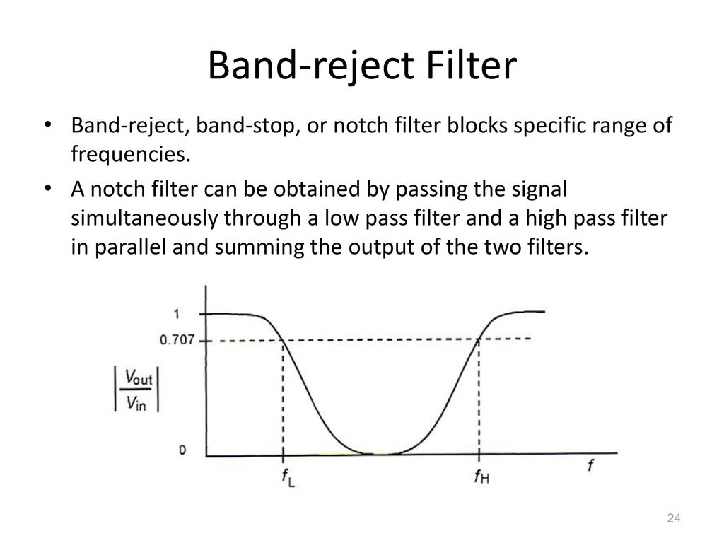 4 Filters Ppt Download Notch Filter Made With High And Low Pass Band Reject Stop Or Blocks