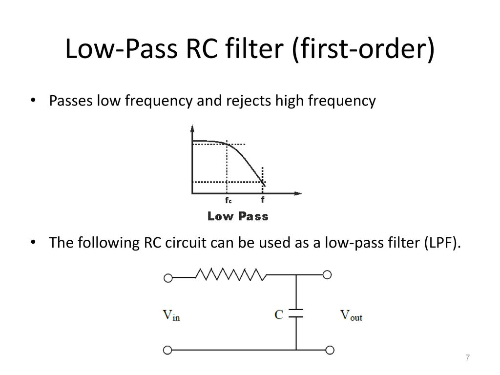 4 Filters Ppt Download Low Pass Filter Circuit Diagram 7