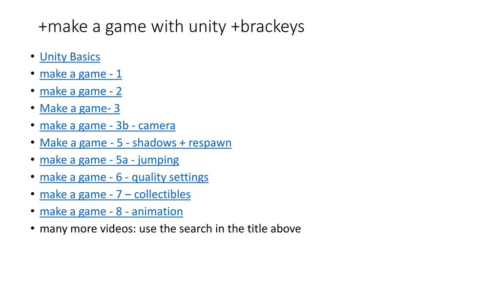 Building a Game with Unity3D - ppt download