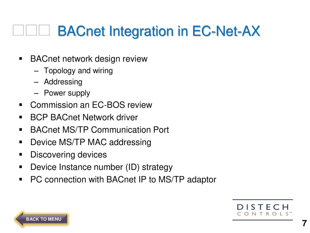 4 BACnet Integration .