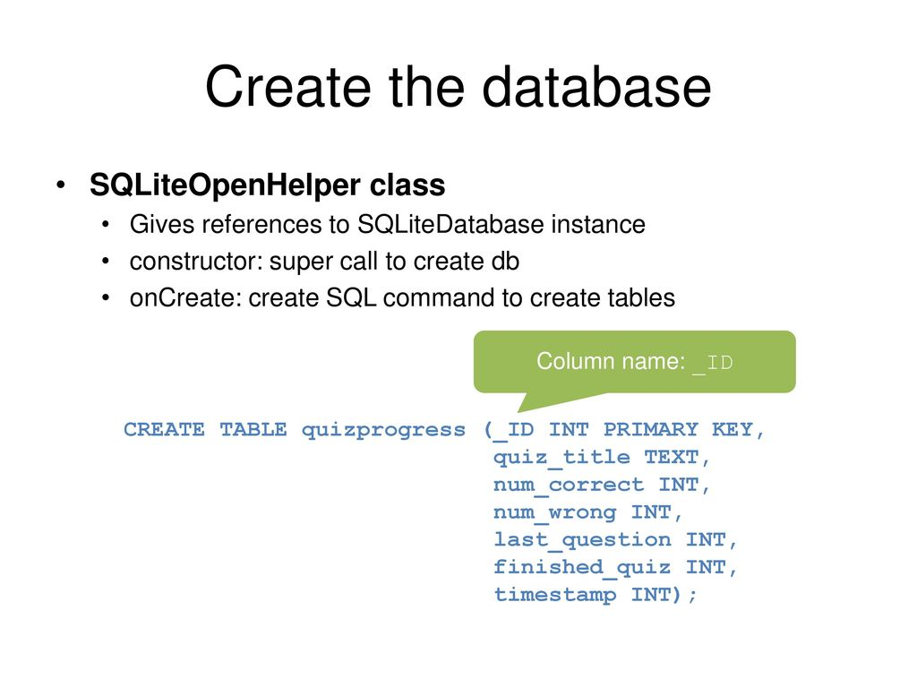 SQLite in Android Landon Cox March 2, ppt download