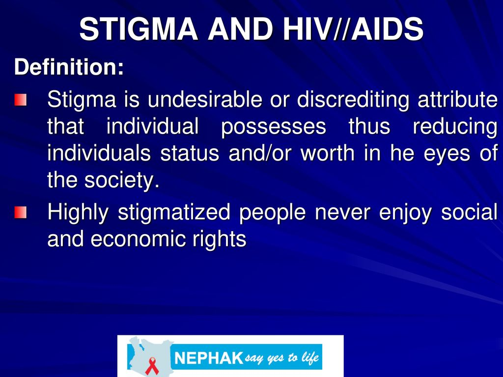 stigma and hiv//aids definition: - ppt download