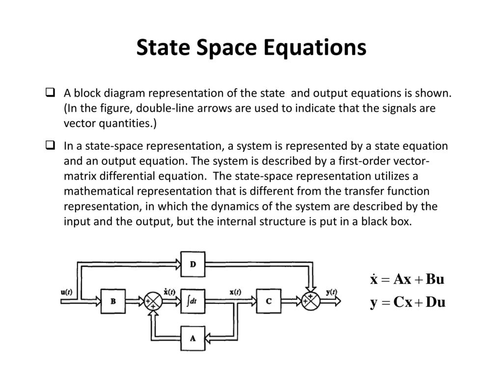 State Space Equations