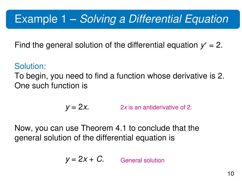 Example 1 – Solving a Differential Equation