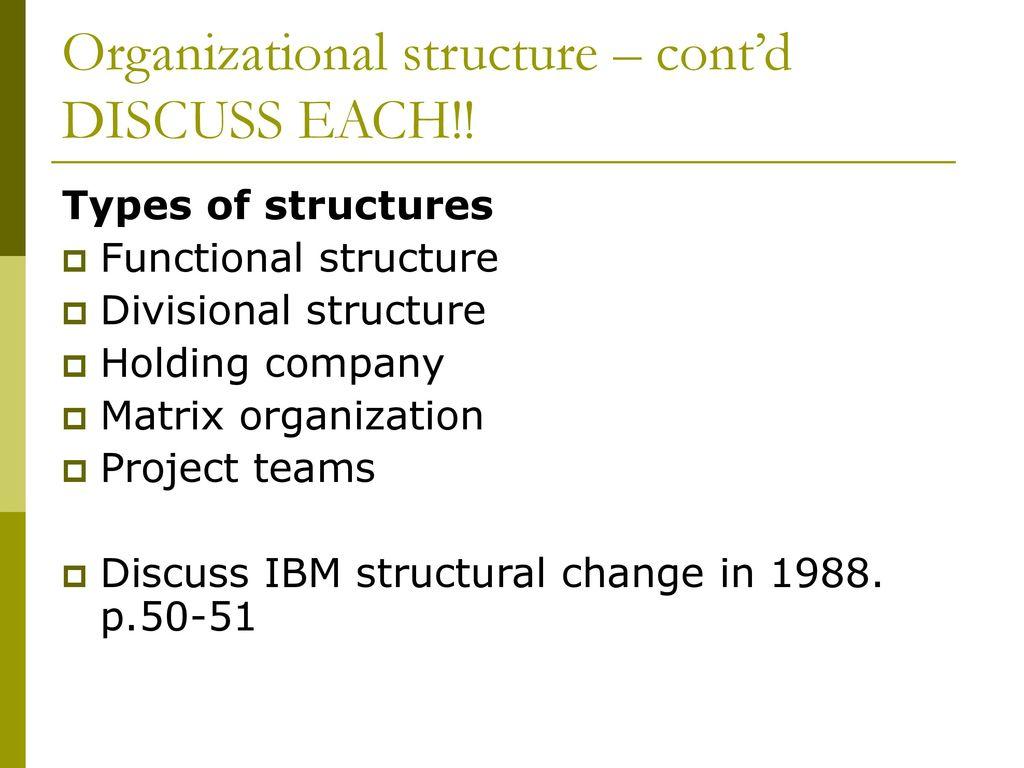 ibm matrix structure