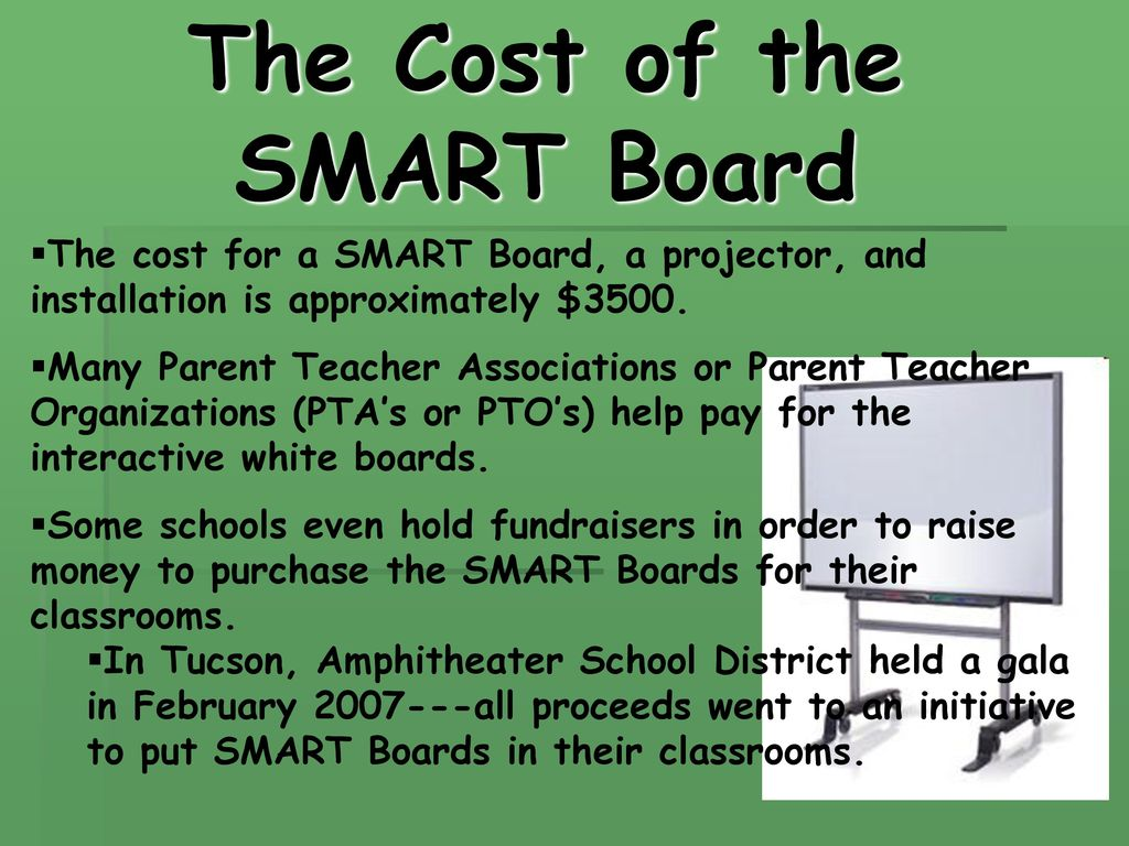 Smart boards in the classroom cost