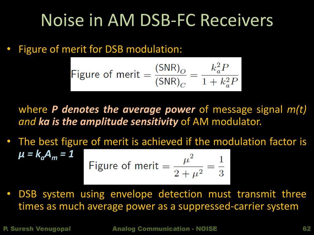 Analog Communication Ppt Download Jpg Envelope Detection Based Am Demodulation Circuit Diagram Noise In Dsb Fc Receivers