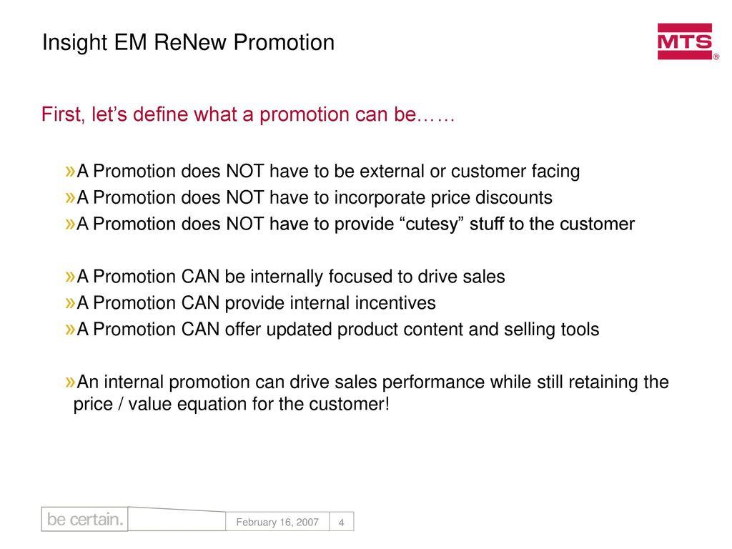 Insight Em Renew Promotion