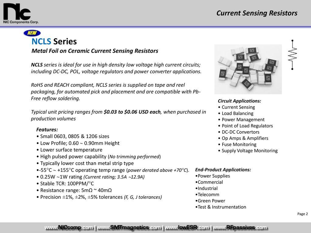 Rs Current Sensing Resistor Ppt Download Low Profile Power Converters 2 Ncls