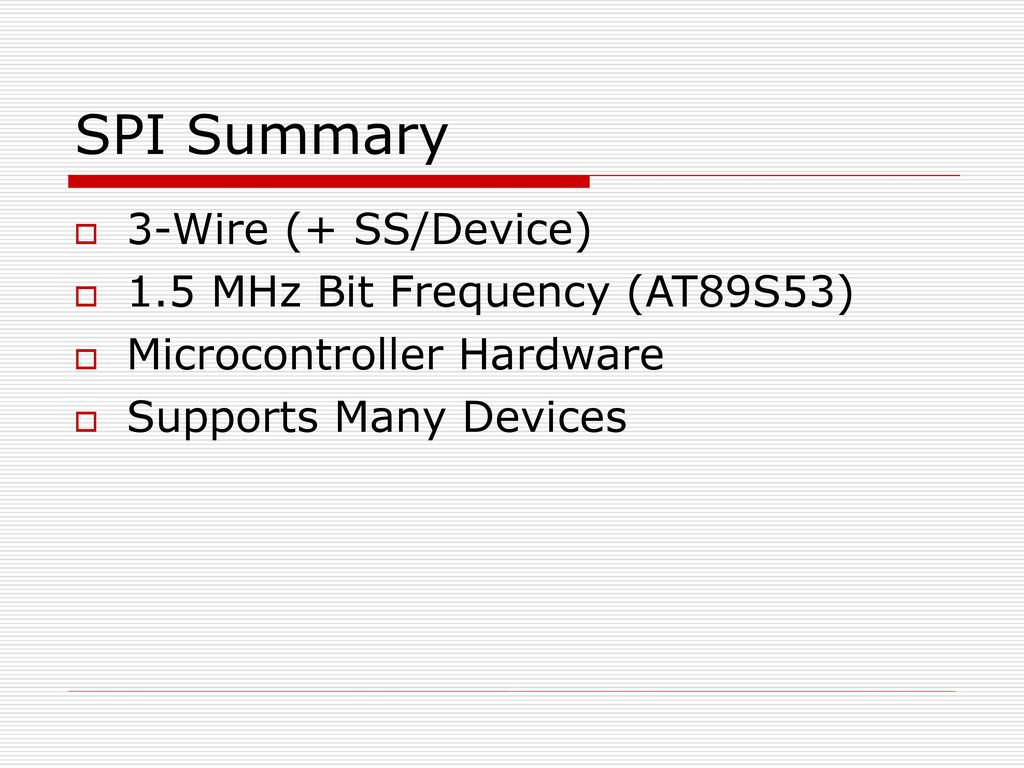 Serial Communication Buses: I2C and SPI - ppt download