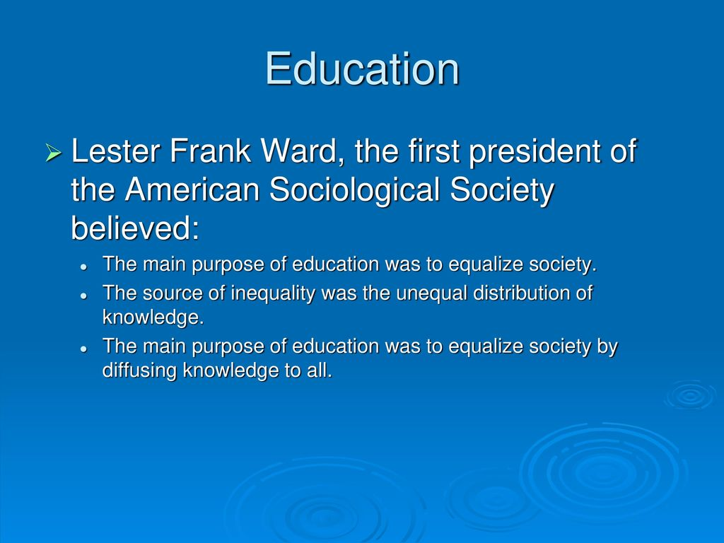 the main purpose of education
