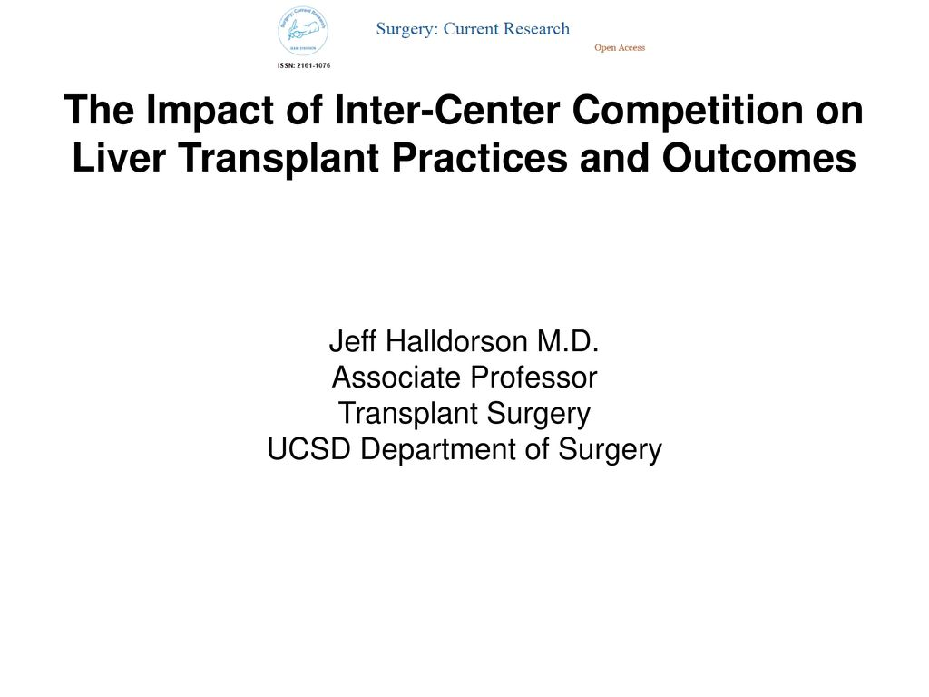 UCSD Department of Surgery - ppt download