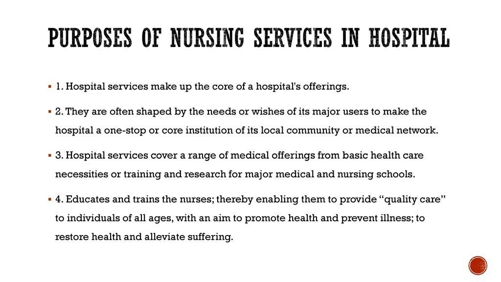 Nursing Services Administration - ppt download