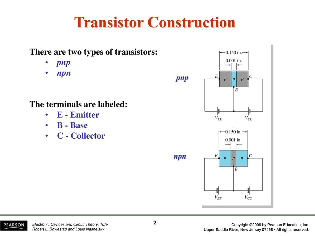 Chapter 3 Bipolar Junction Transistors Ppt Download Pearson Education Electronic Devices And Circuit Theory New 2 Transistor Construction