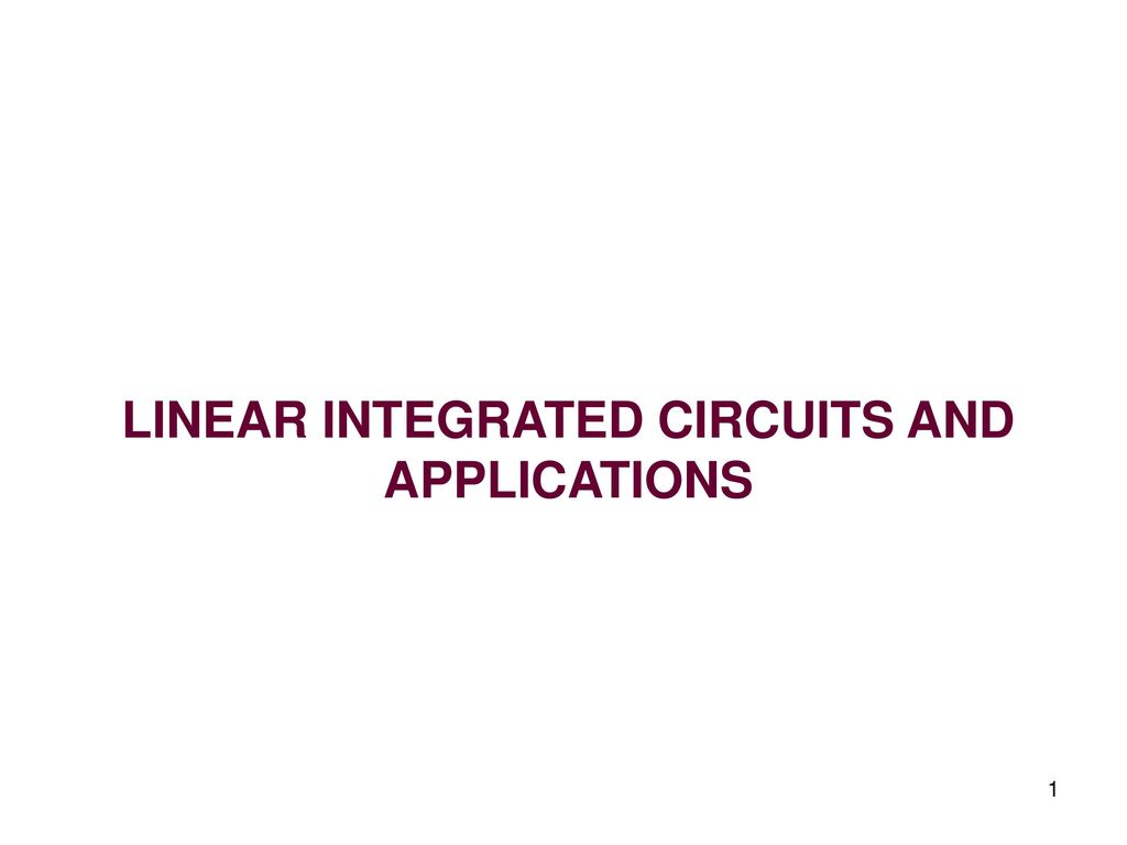 Linear Integrated Circuits And Applications Ppt Download Want To Present Is Constructed Using The Circuit Lm317 1