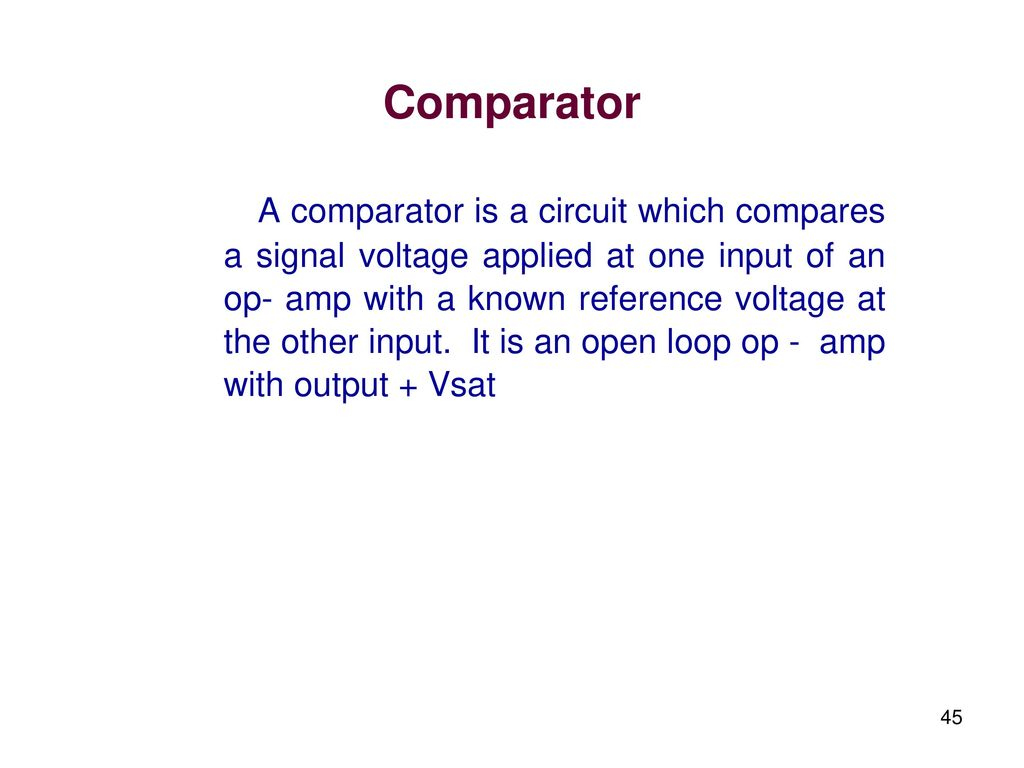 Linear Integrated Circuits And Applications Ppt Download Circuit Was Constructed With The Use Of Power Audio Amplifier Lm380 Comparator