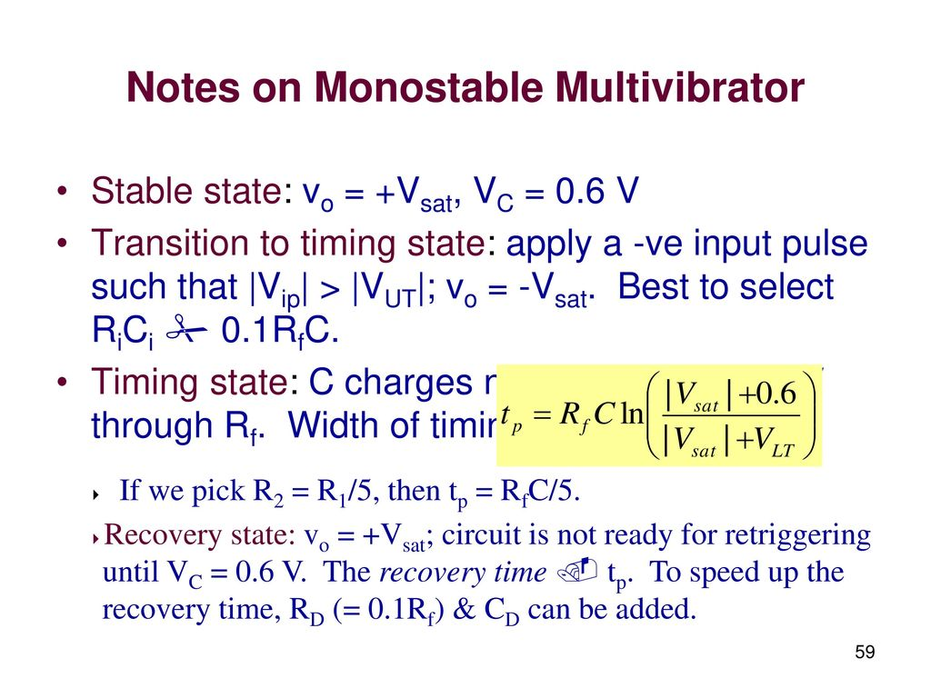 Linear Integrated Circuits And Applications Ppt Download Bistable Multivibrator Mode Of 555 Timer Ic Is The Easiest Notes On Monostable