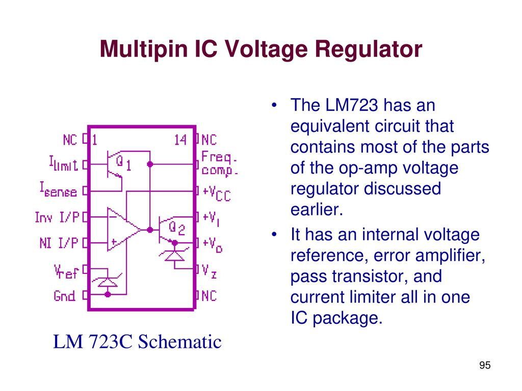 Linear Integrated Circuits And Applications Ppt Download Lm317 Voltage Regulator Calculator Electronic Schematics Lm 723c Schematic Multipin Ic