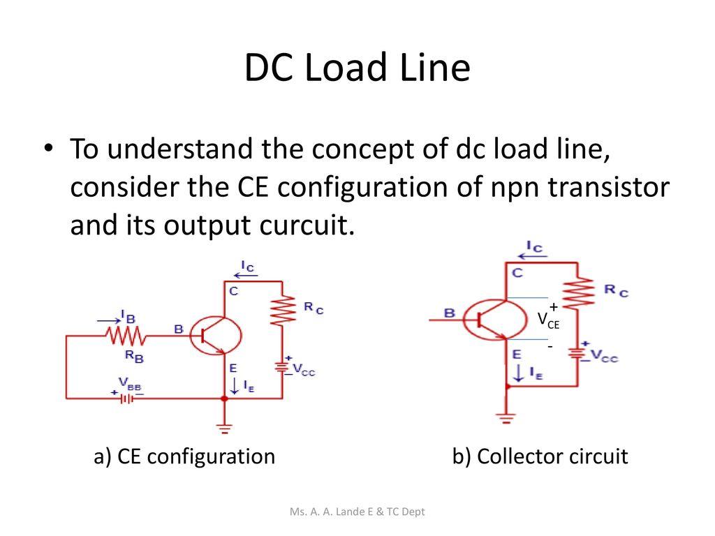 Transistor Circuits Ms A Lande E Tc Dept Ppt Download Npn 13 Dc
