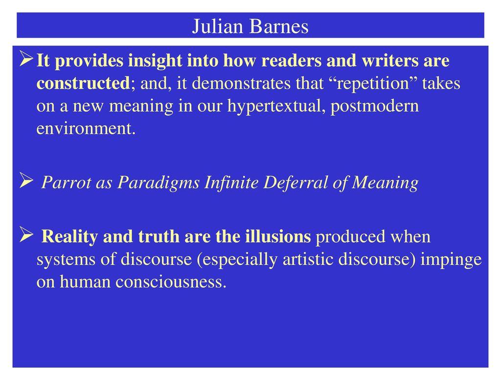 Julian Barnes Flaubert's Parrot - ppt download