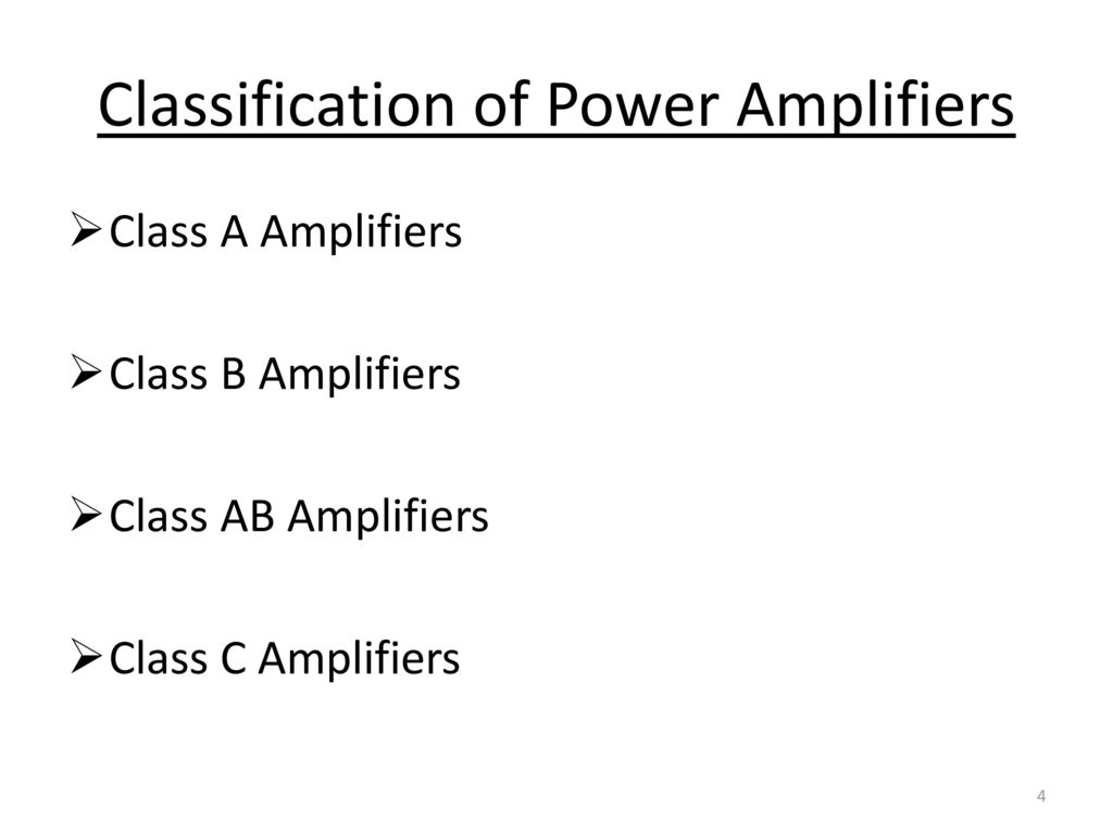 Electronic Devices Circuits Ppt Download Class Ab Power Amplifiers Classification Of