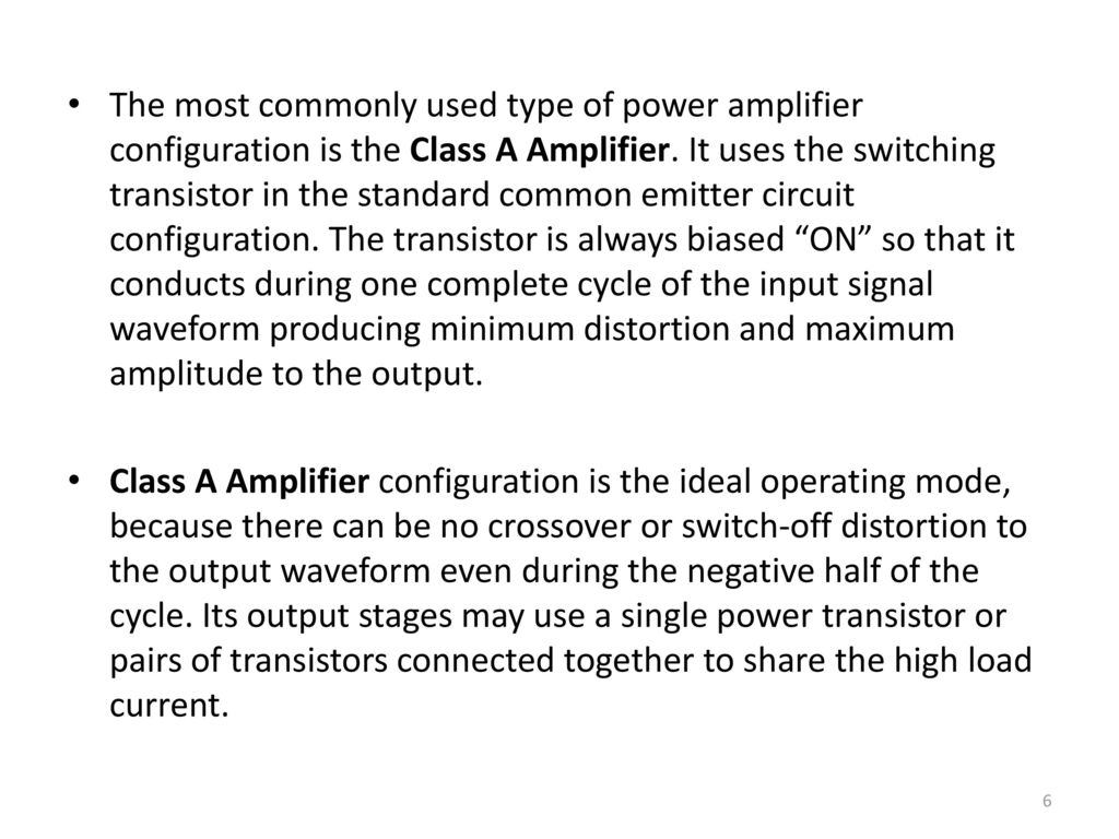 Electronic Devices Circuits Ppt Download Power Amplifier Class A Circuit The Most Commonly Used Type Of Configuration Is It