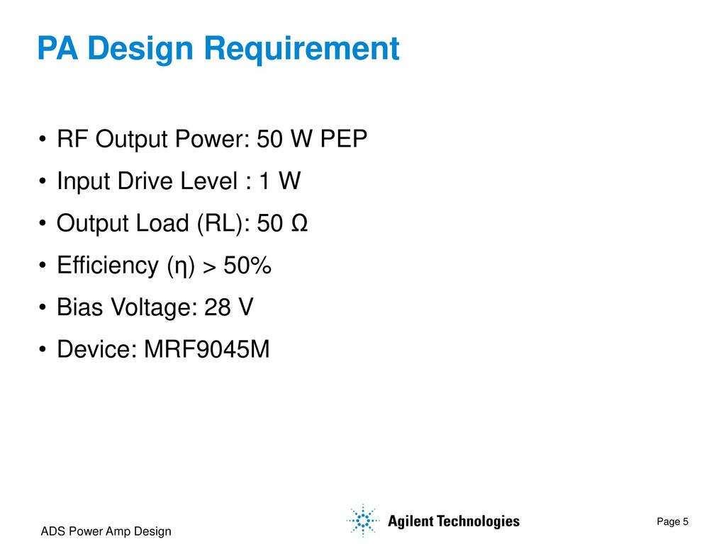 Power Amplifier Design Using Ads Ppt Download 50 W Transistor Pa Requirement Rf Output Pep